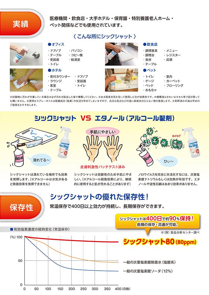 ゆうしんで使用している除菌剤